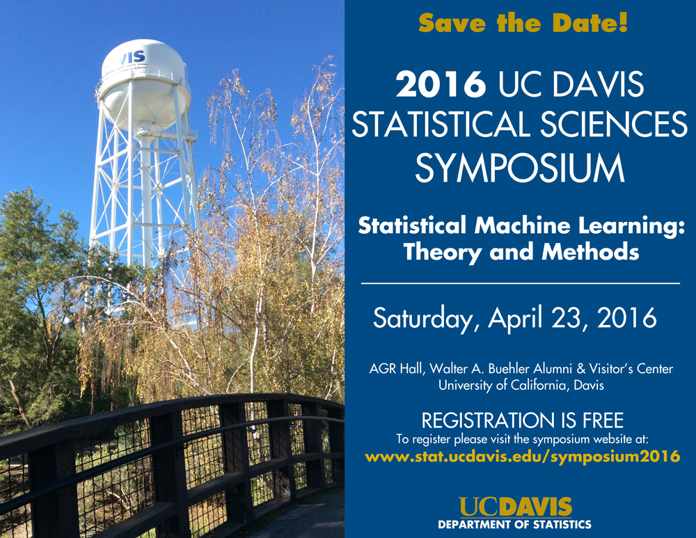 2016 Statistical Sciences Symposium Save the Date